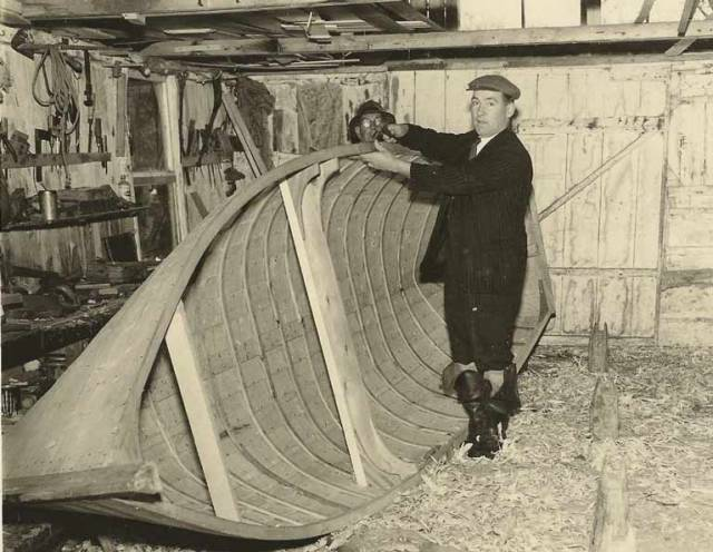 The last island boat builder on Lower Lough Erne was Douglas Tiernan of Owl Island who built his last boats there in the 1960s prior to his death