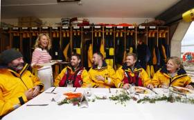 Celebrity chef Clodagh McKenna serves up a fish supper for hungry Howth RNLI volunteers