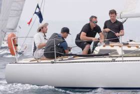 Kieran O'Connell (third from left) competing onboard a Royal Cork keelboat