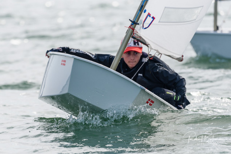 Racing at the RCYC Optimist Burns Trophy. See Photo gallery below