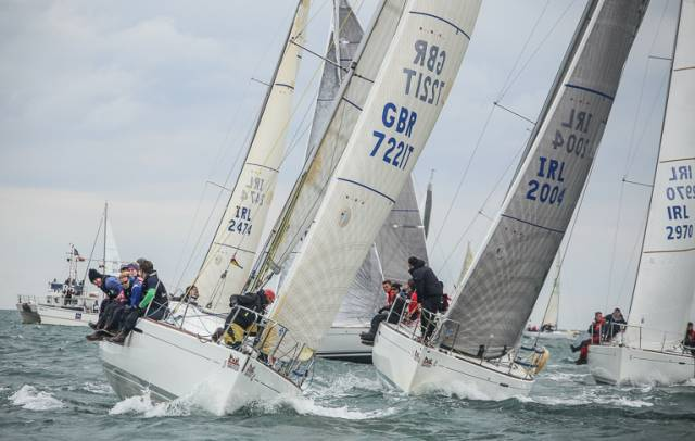 Beneteau 31.7s on the line for a DBSC race start