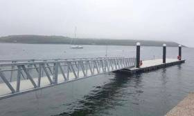 Youghal's new pontoon and access ramp was installed in early May