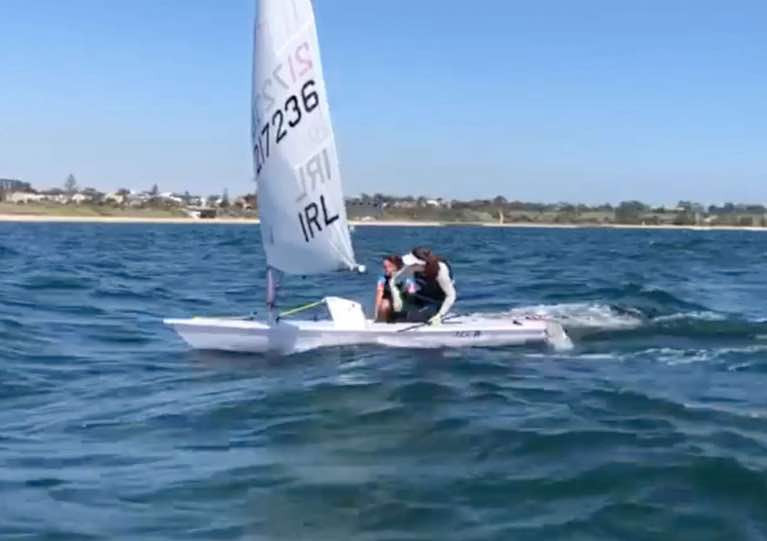 Silver Service in a different world….back in the still relatively carefree times of early January, just for a spot of fun Olympic Sailing Silver Medallist Annalise Murphy took Olympic 5,000 Metre Silver Medallist Sonia O'Sullivan for a sail in the Laser in Melbourne