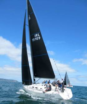 Outrageous—J109 on her way to class win at Sovereigns Cup 2019 using Carbon Uni Titanium main and headsail