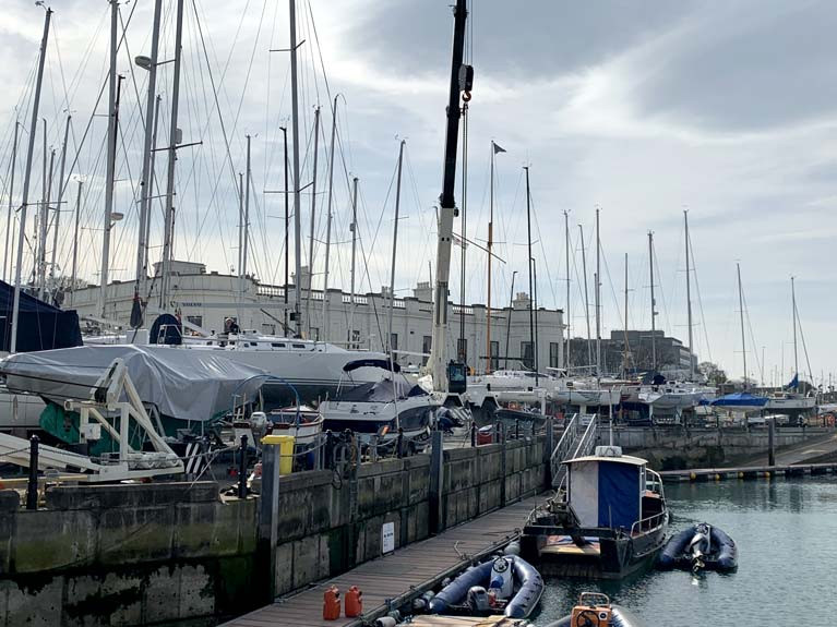 The lift in of yachts at the RIYC has been postponed