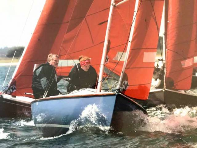 Irish Sailing President Jack Roy sailing a Squib with his daughter Jill on Lough Derg. Roy will host a Commodore's forum immediately after the association's March 10th agm at the National Yacht Club in Dun Laoghaire, Co. Dublin