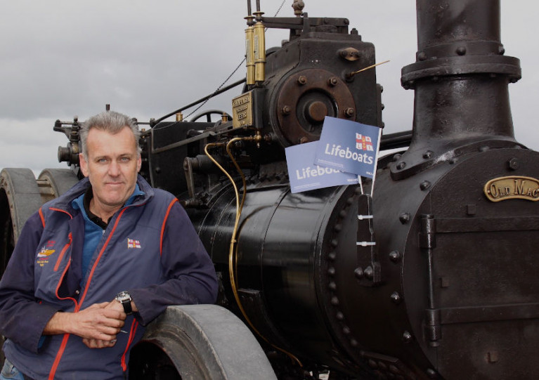 Rory Nagle with his restored steam engine Old Mac