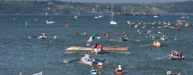 An action packed Ocean to City Rowing race