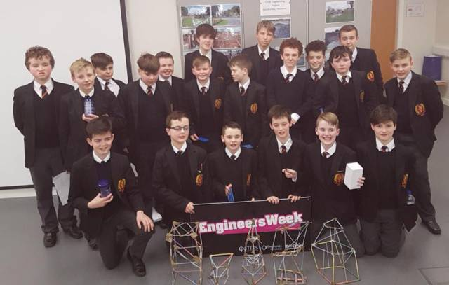 Some of the 200 pupils participating in workshops and activities for Engineers Week 2017 at Waterways Ireland HQ in Enniskillen