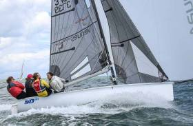 Ger Dempsey's Venues World was the winner of Thursday's DBSC SB20 race