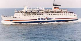 ONCE-ONLY VISIT: On this date 25 years ago took place the one and only visit to Cork Harbour of Duc de Normandie, a Brittany Ferries ship. Such a scenario is particularly rare in Irish ferry terms.