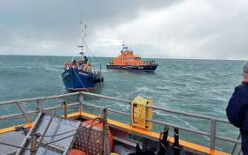 Arklow Lifeboat Volunteers Assist Three Onboard Fishing Boat After Breakdown