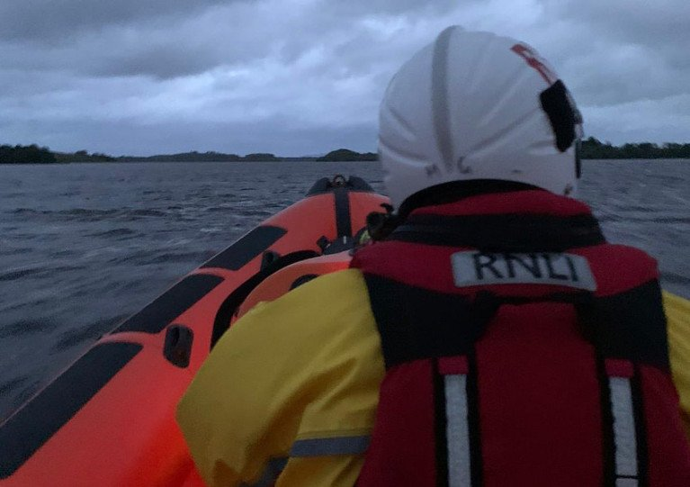 File image of Enniskillen RNLI's inshore lifeboat returning to station