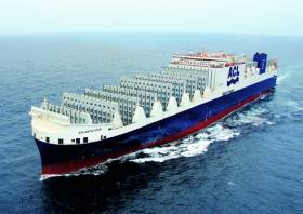 Afloat last year reported on Atlantic Star the first of five G4 series of the World's largest new con-ro giant ships. The leadship entered service in March on a UK (Liverpool)-Europe-North America service for Atlantic Container Line.