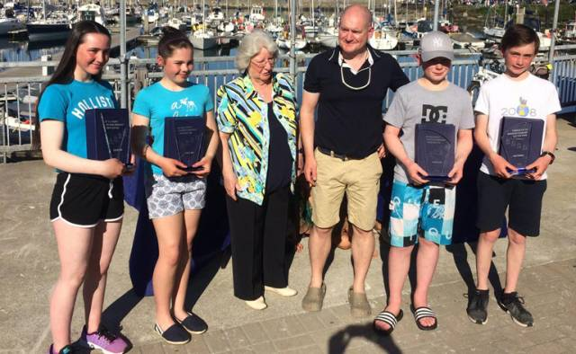 Optimist Winners with Mary Wilkes at Howth Yacht Club