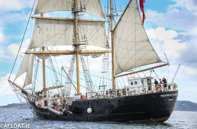 Pelican of London is in Cork Harbour for Tall Ship Training Awards