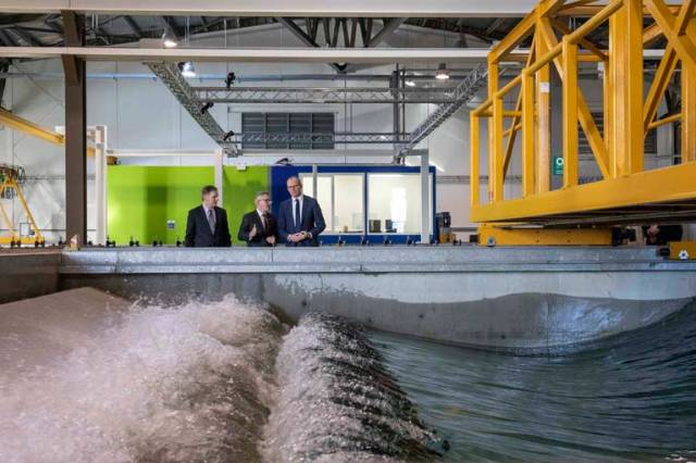 The state of the art facilities at Lir include four wave tanks that can replicate real ocean conditions and enable testing of various marine innovations