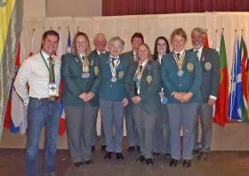 The winning ladies with their medals after this year's Shore Angling Worlds in Wexford