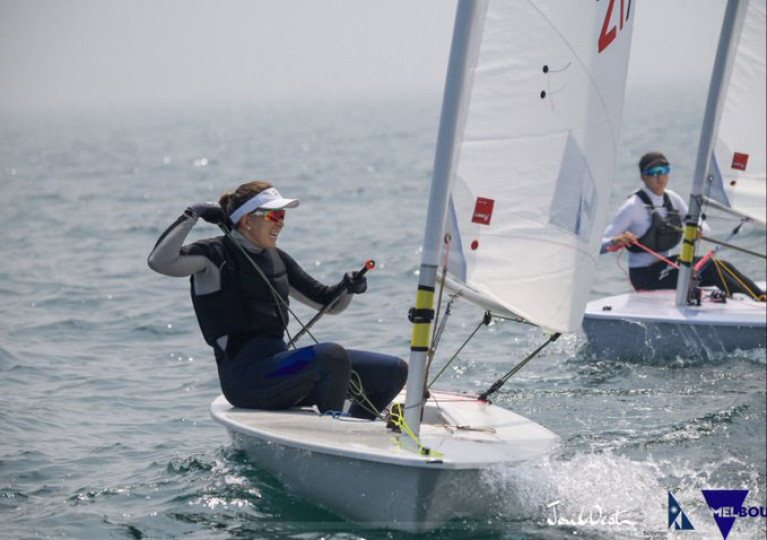 Annalise Murphy competing at the Australian Laser Radial National Championships in Melbourne. Photograph: John West/Sail Melbourne Annalise Murphy competing at the Australian Laser Radial National Championships in Melbourne