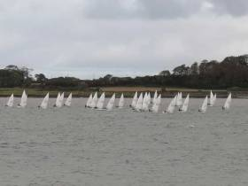 Laser racing at the Ballyholme Yacht Club Icebreaker Series Race Two