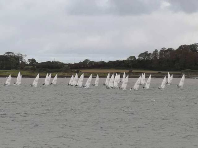 Tight Racing for Laser Radials at Ballyholme Yacht Club Icebreaker Series Race Two