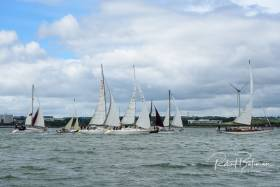 Today's start, at 2pm off 'the Grassy,' is a traditional sail race starting point for generations of sailors