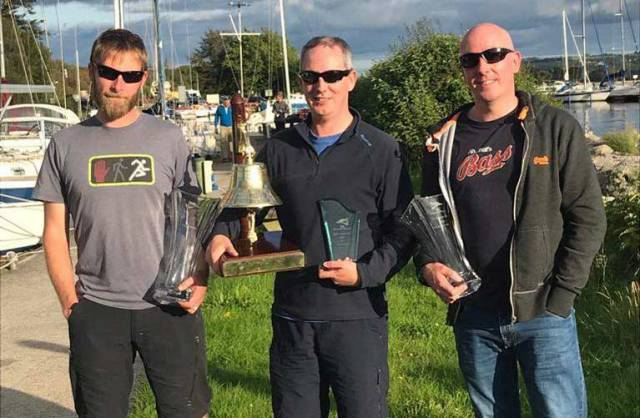 'Sonic boom' sailed by Andrew Deakin, Brian McElligott and Colm McElligott were the overall Gortmore Bell winners