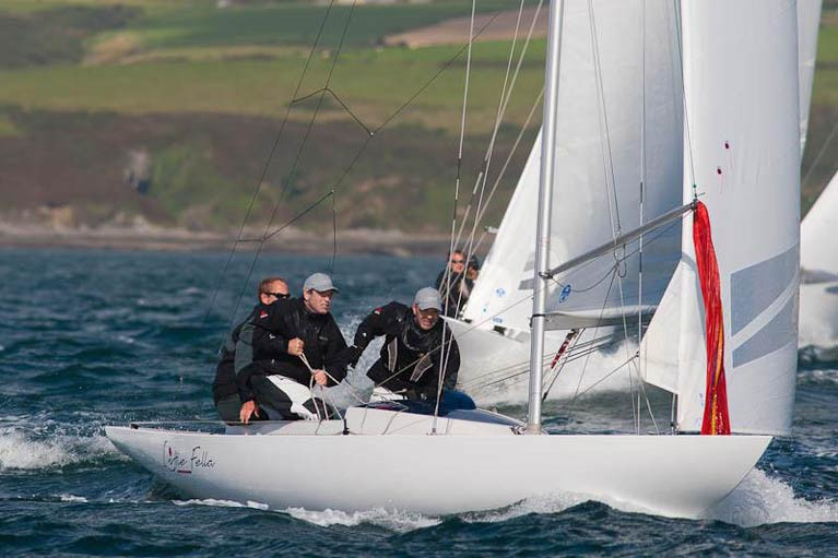 "Kinsale Dragon campaigner Cameron Good along with his crew on ""Little Fella"" will be hoping to lift the National title in September"