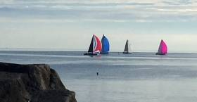 The ISORA fleet off Dun Laoghaire and heading for Wales on Saturday