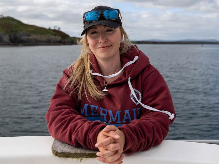 Lead researcher Emer Keaveney, Marine Mammal Ecologist, Ocean Research & Conservation Ireland
