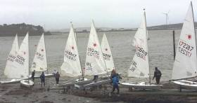 The Laser Dinghy League at Monkstown Bay Sailing Club in Cork Harbour last January