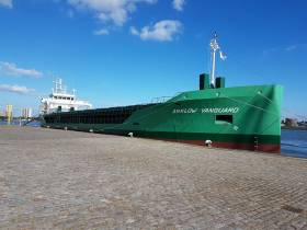 Arklow Vanguard which made a delivery voyage to Rotterdam (as above) is the latest addition to the fleet that now totals 50 cargoships.