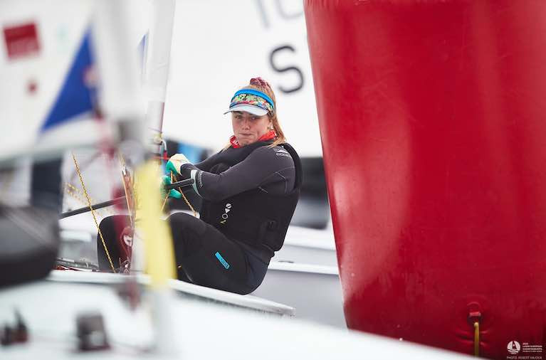 Howth's Aoife Hopkins is top Irish Radial sailor with two races left to sail in Poland