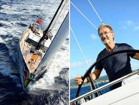 Grand Prix legend Eddie Jordan with his Oyster 885 Lush