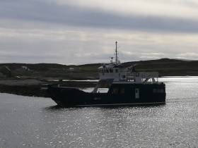 Making a delivery voyage to Rathin Island this morning is Spirit of Rathlin. The £2.8m newbuild can take up to six vehicles and 140 passengers on the crossing to Ballycastle on the mainland.