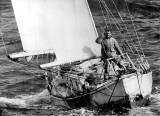 Sir Robin Knox-Johnston returning to Falmouth on Suhaili on this day in 1969