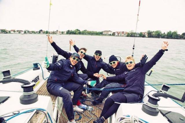 Philip Bendon and crew at the climax of the 19th Match Race Germany earlier this week