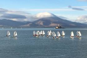 The 17 Optimist fleet in Tralee Bay included some of the most promising juniors in the country
