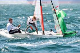 Harry Durcan and Harry Whitaker competing stateside at the 29er Worlds in California this month