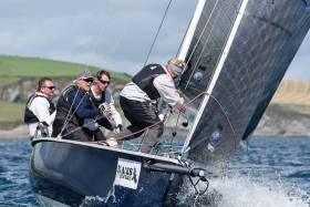 Smile'n'Wave (Ben Cooke & Jim Griffith) competing in the Kinsale Yacht Club 1720 National Championships. Scroll down for gallery