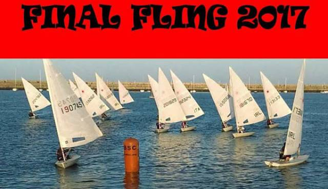 The Royal St. George Yacht Club hosted Final Fling 2017 for dinghies has been delayed until Sunday 22nd