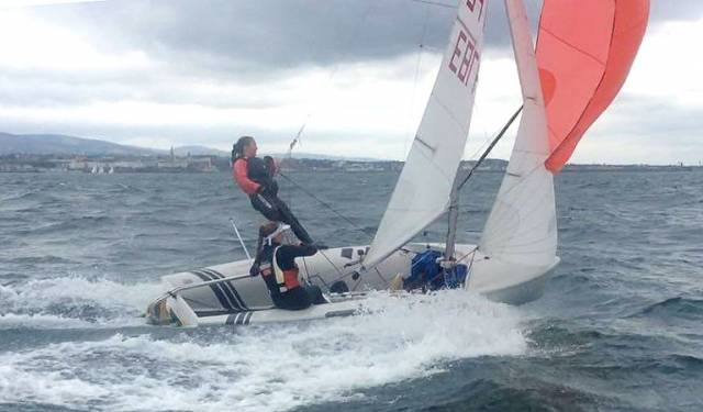 420 duo Grace O'Beirne and Kathy Kelly, pictured here in Dun Laoghaire, competed last week at Kiel Week in Germany