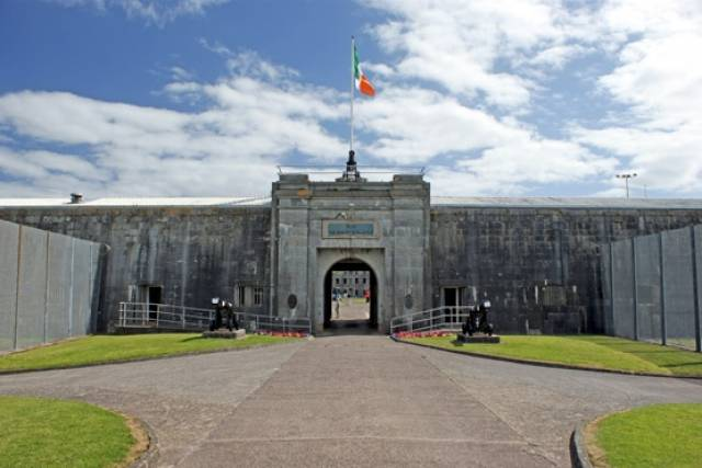 The entrance to Fort Mitchel on Spike Island