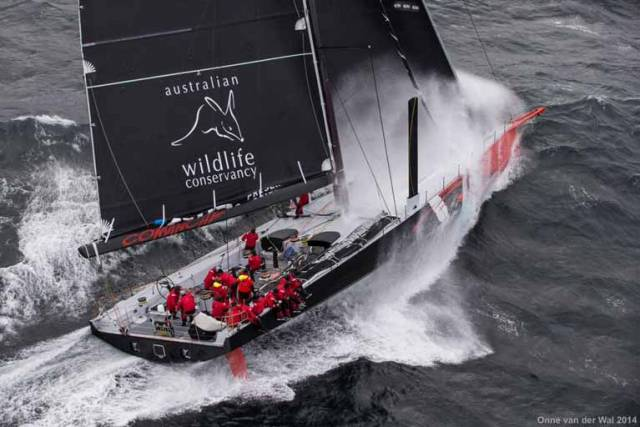 Ballivor go breach!!! Jim Cooney's Supermaxi Comanche will be hoping for vigorous winds in next week's Rolex-Sydney-Hobart Race. He maintains close links with his ancestral homelands in County Meath, and his crew will include renowned bowman Justin Slattery of Wexford and Kinsale
