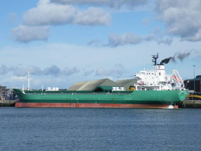 Winds of change: The final member of the 'W' class Arklow Shipping bulkers, Arklow Wind (above at Dublin Port) has taken place in recent weeks. The 13,988dwt cargoship is now under the Dutch flag.