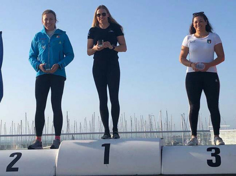 Back on the podium - Annalise Murphy in second overall at Sail Melbourne