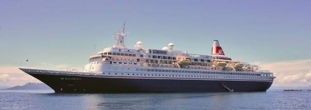 Boudicca, one of four cruiseships due to call in three days to Killybegs this weekend