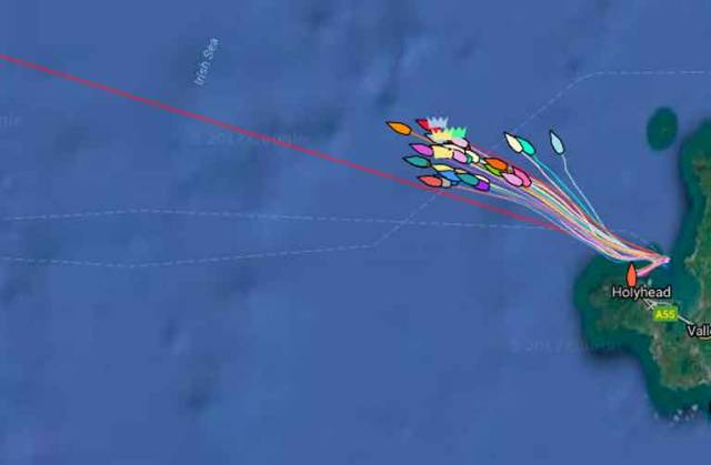 Two-Hander 'Bam' From Howth Yacht Club Takes Early Lead in ISORA Holyhead–Dun Laoghaire Race (Tracker HERE!)