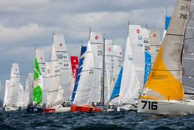 Solo Sailor Tom Dolan from County Meath is in the 84–boat fleet