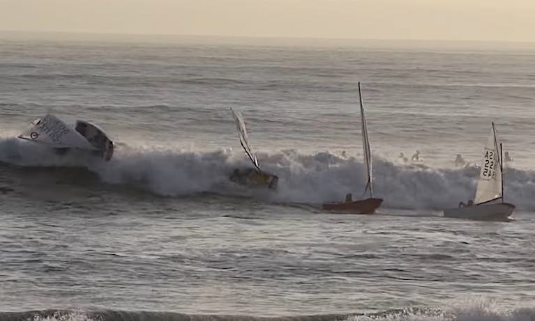 Hang Ten - Junior Optimist sailors catch a wave in California